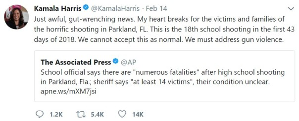 kamala harris tweet