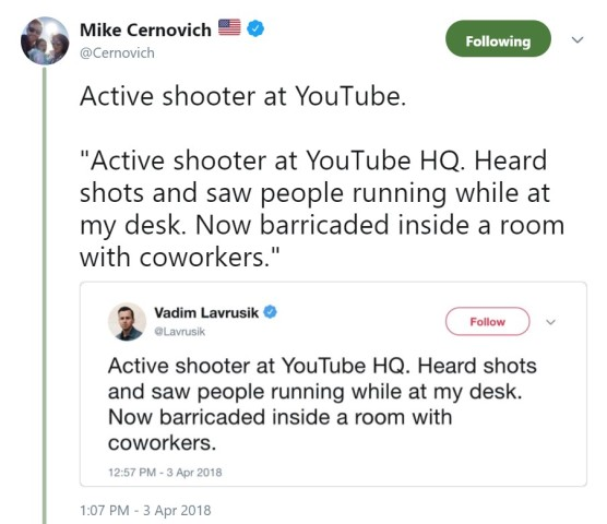 active shooter tweeet
