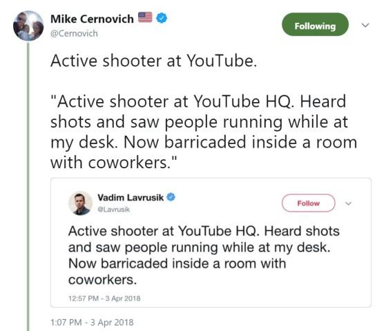 active shooter tweeet
